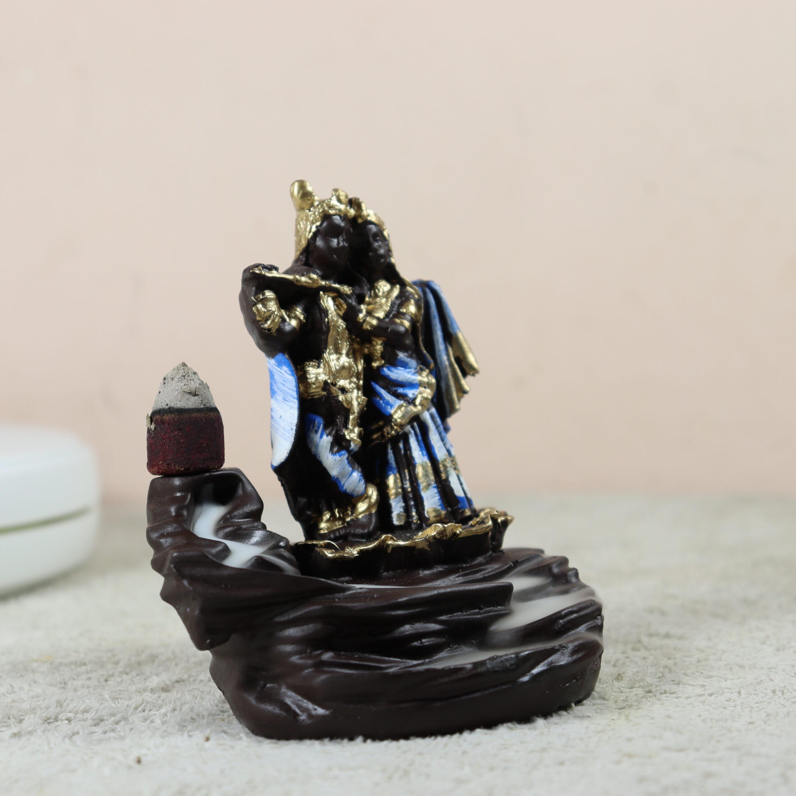 smoke fountain radha krishna