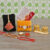 Rakhi Gifts for Brother, Bhabhi and Children Combo Set- 4 Rakhi Set with Double Dabbi Shape Kumkum Box, Roli Rice Pack and Raksha Bhandhan Greeting